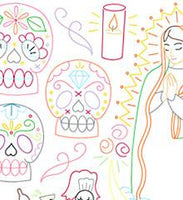 Dia de los Muertos Small Pack Embroidery Patterns