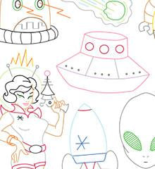 Spaced Out Small Pack Embroidery Patterns