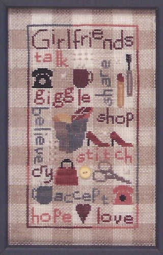 Gingham Girlfriends - Cross Stitch Pattern