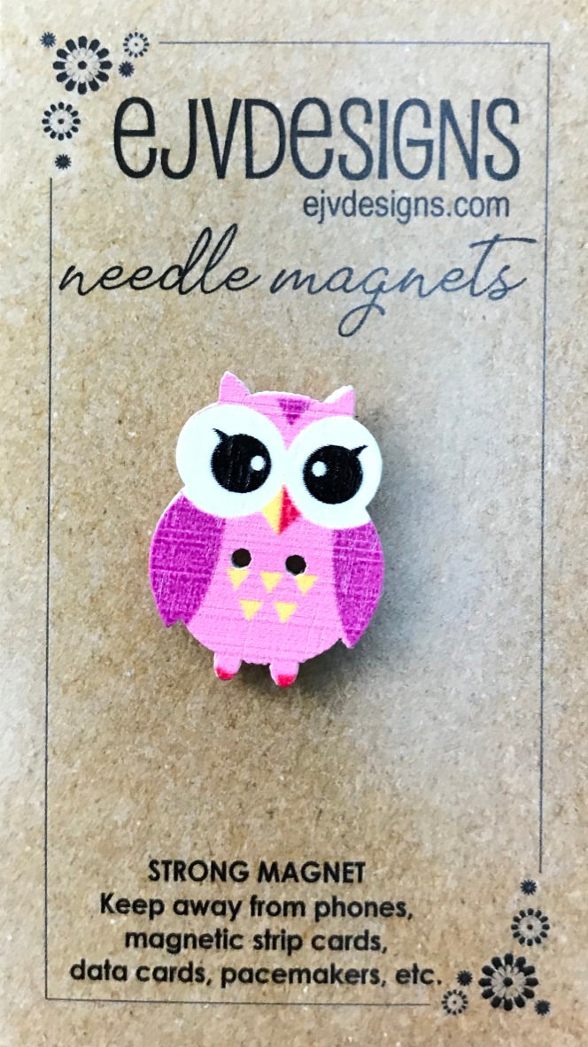 Pink Owl Needle Magnet
