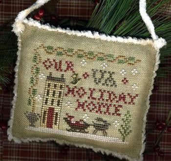 2013 Sampler Ornament - Your State Holiday Home - Cross Stitch Pattern