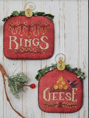 12 Days #3 - Rings & Geese - Cross Stitch Pattern
