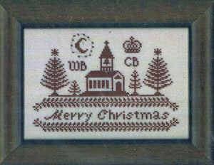 Merry Christmas in Red - Cross Stitch Pattern