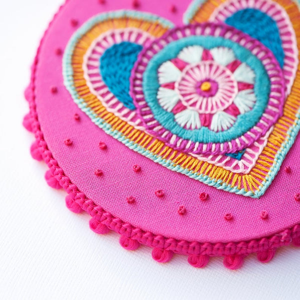 "Granny's Heart 4"" Hoop Kit"
