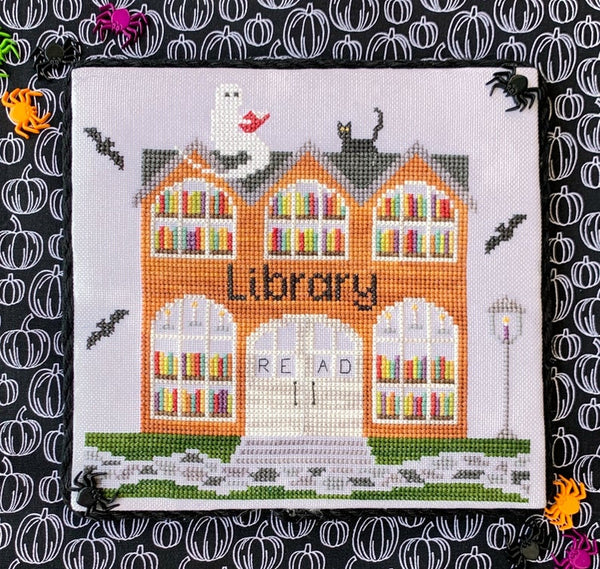 Spooky Hollow #6 - Library - Cross Stitch Pattern