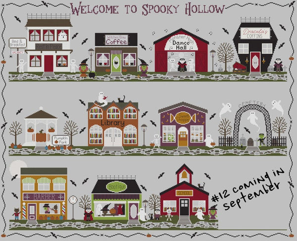 Spooky Hollow #10 - Bootique - Cross Stitch Pattern