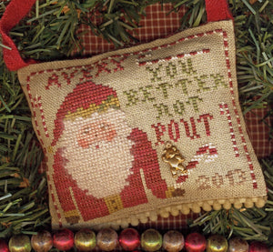 Merry Noel Collection - You Better Not Pout - Cross Stitch Pattern