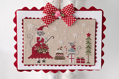 Souris Noel (Christmas Mouse) - Cross Stitch Pattern