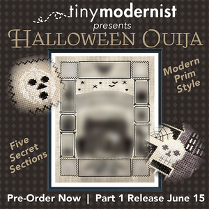 Tiny Modernist Halloween Ouija (part 1/5) - Cross Stitch Pattern