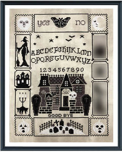 Tiny Modernist Halloween Ouija (part 4/5) - Cross Stitch Pattern