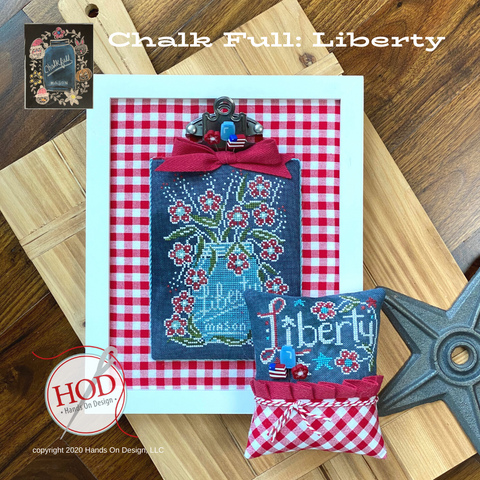 Chalk Full #7 - Liberty - Cross Stitch Pattern