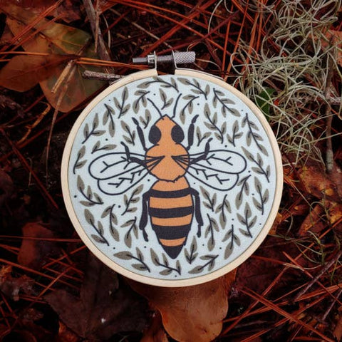 Bee Embroidery Kit - Holly Oddly