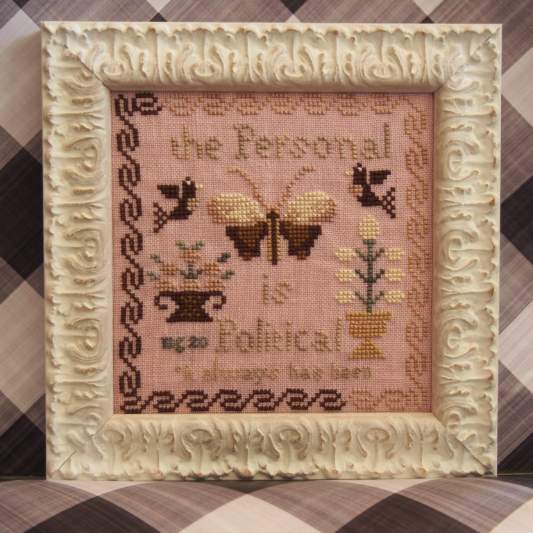 Personal is Political (No 22) - Cross Stitch Pattern