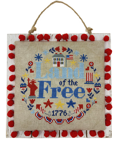 Land of the Free Wreath - Cross Stitch Pattern
