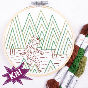 Sasquatch Embroidery Kit