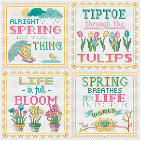 Spring Signs - Cross Stitch Pattern
