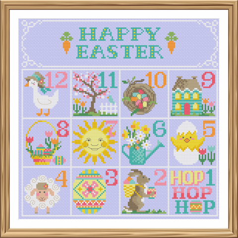 Easter Calendar - Cross Stitch Pattern