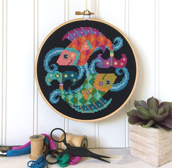Pisces - Zodiac Series - Cross Stitch Pattern