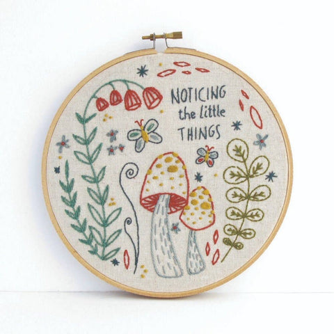 Noticing the Little Things Embroidery Kit