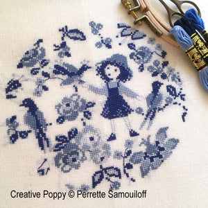 Camaïeu Blues - Cross Stitch Pattern