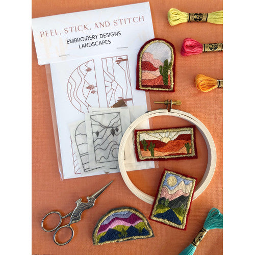 Landscape Designs - Peel, Stick, & Stitch Embroidery