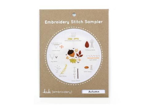 Autumn - Embroidery Stitch Sampler Kit