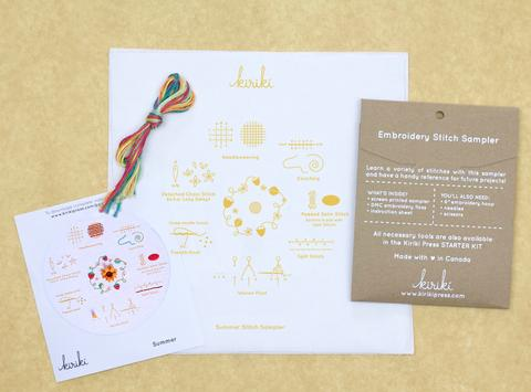 Summer - Embroidery Stitch Sampler Kit