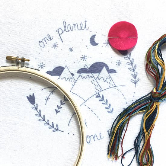 One Planet Embroidery Kit
