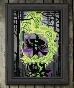 The Witches Spell - Cross Stitch Pattern