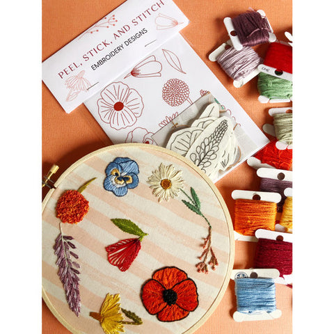 Wildflower Designs - Peel, Stick, & Stitch Embroidery Pattern