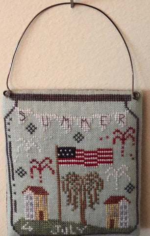 4th of July in a Jar - Cross Stitch Pattern