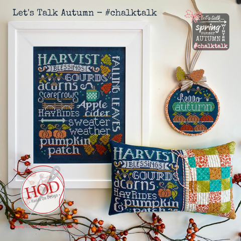 #chalktalk #1 - Let's Talk Autumn - Cross Stitch Pattern