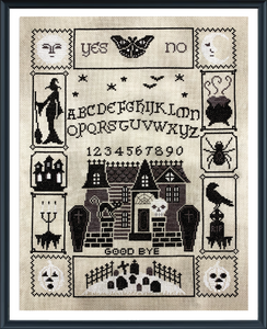 Tiny Modernist Halloween Ouija (part 5/5) - Cross Stitch Pattern