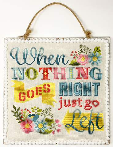 Just Go Left - Cross Stitch Pattern