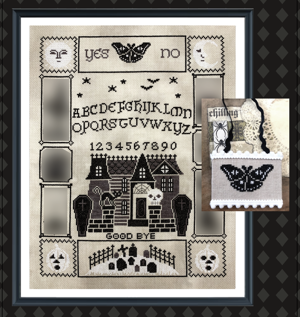 Tiny Modernist Halloween Ouija (part 3/5) - Cross Stitch Pattern