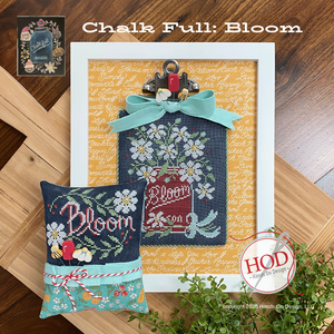 Chalk Full #6 - Bloom - Cross Stitch Pattern