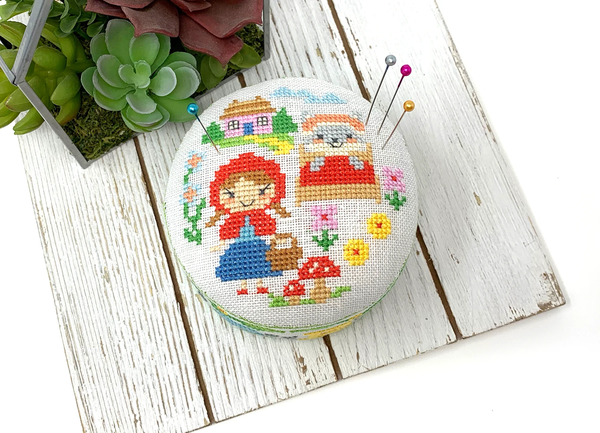2021 Fairy Tale Pin Cushion #1 - Little Red Riding Hood - Cross Stitch Pattern
