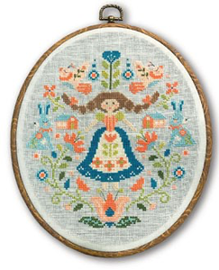 Folk Art Sampler - Cross Stitch Pattern