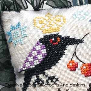 The Raven Scissor Fob cross stitch pattern - Cross Stitch Pattern