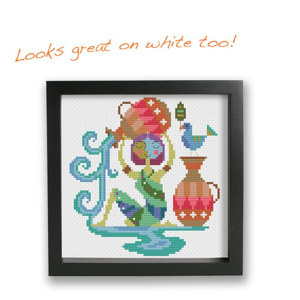 Aquarius - Zodiac Series - Cross Stitch Pattern