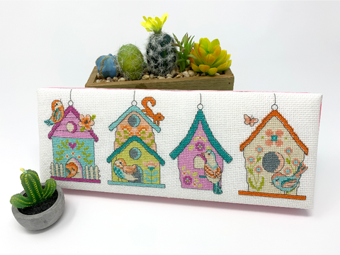 Spring Birdhouses - Cross Stitch Pattern