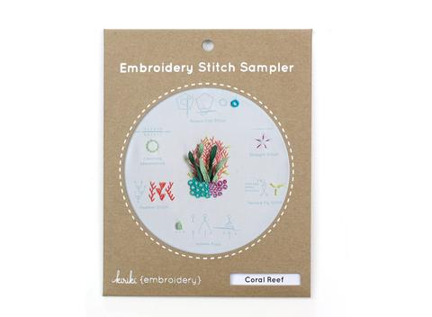 Coral Reef - Embroidery Stitch Sampler Kit