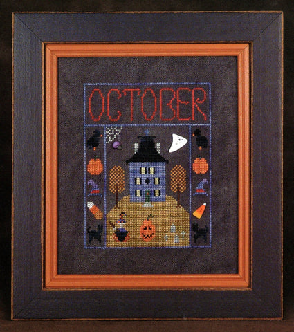 House on a Hill #10 - October House - Cross Stitch Pattern