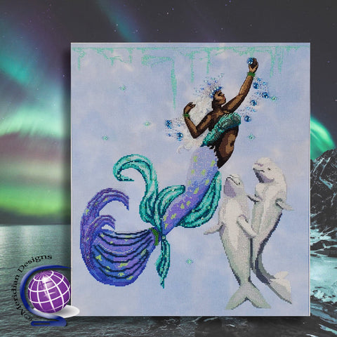 Kristín the Arctic Ocean Mermaid - Cross Stitch Pattern