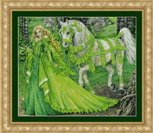 Lady Greensleeves - Cross Stitch Pattern
