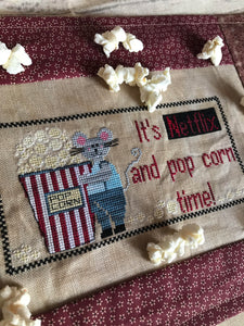 Netflix and Popcorn - Cross Stitch Pattern
