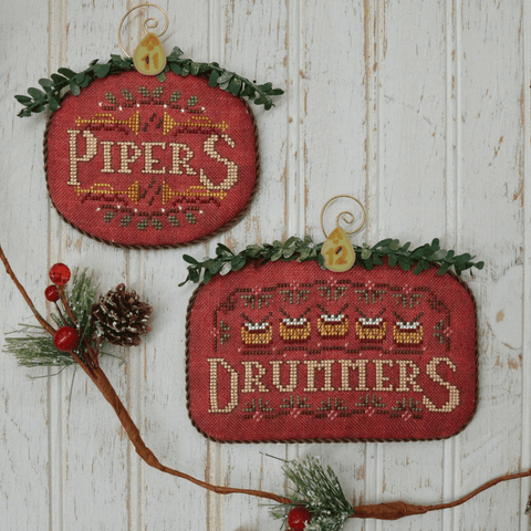 12 Days #6 - Pipers & Drummers - Cross Stitch Pattern