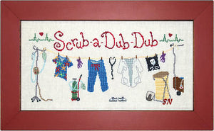 Scrub-a-Dub-Dub - Cross Stitch Pattern