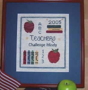 Teachers Challenge Minds - Cross Stitch Pattern