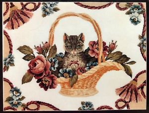 Cat in Basket with Tassels - Cross Stitch Pattern